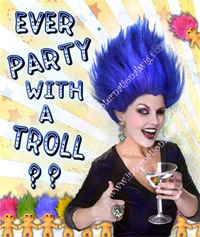 Party Like a Troll!  Troll Wigs